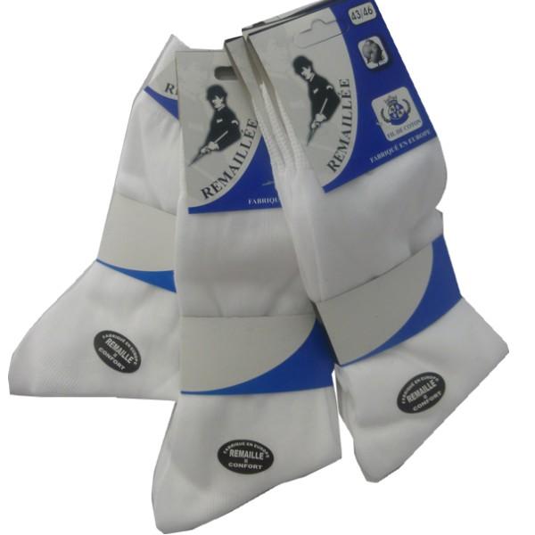 chaussette en coton blanc pour homme
