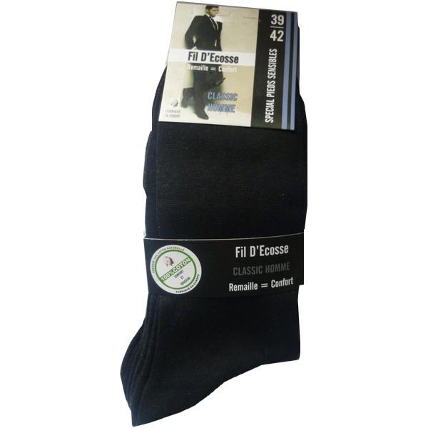 chaussette fil d`écosse 100% coton naturel